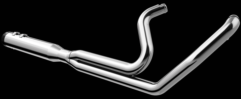 Khrome Werks | 2-into-1 Touring® System with Two-Step Headers - Billet Tips - Chrome