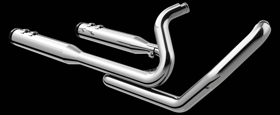 Khrome Werks | 2-into-2 Touring® System with Two Step Cross Over Headers - Chrome