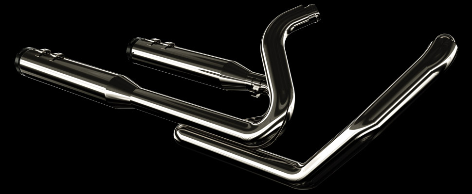 Khrome Werks | 2-into-2 Touring® System with Two Step Cross Over Headers - Eclipse