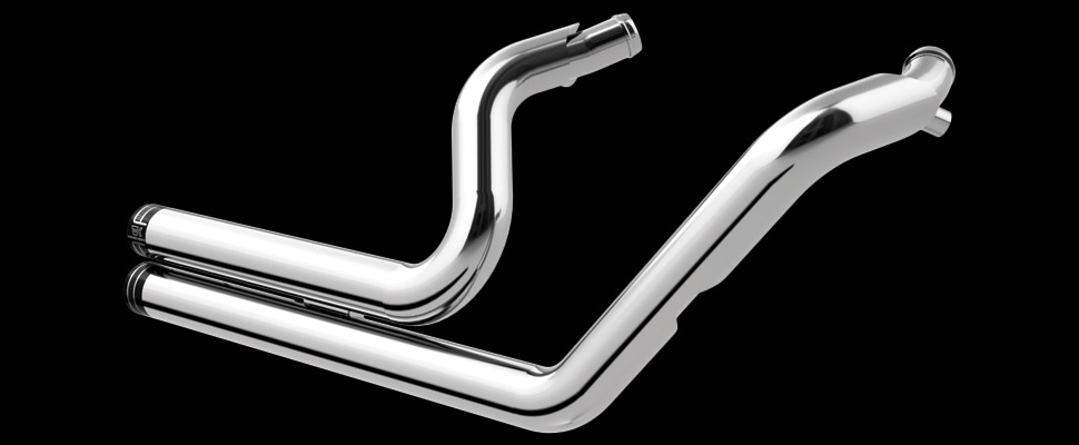 Khrome Werks | Drag Style Header System for Sportster® - Billet Tip - Chrome